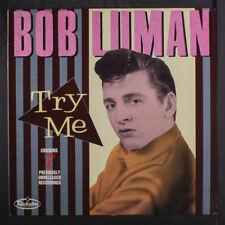 BOB LUMAN: Try Me LP (UK, sm corner ding) Rockabilly