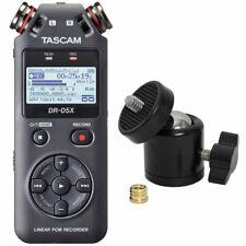 Tascam DR-05X tragbarer Audio-Recorder + keepdrum Kugelgenk Stativ-Adapter