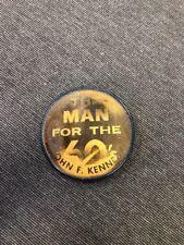 "John F. Kennedy ""The Man for the 60's""  Flasher Souvenir Political Pin vari-vue"