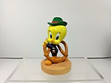 Goebel 1999 Warner Bros.Tweety Bird w/Pretzel 'Twisty Tweats' Porcelain Figurine