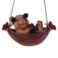 Resin Swing Animals Garden Decoration Ornaments Home Decor Figures Pig#2
