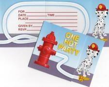 Firefighter Party Invitations (8) - Birthday Party Supplies