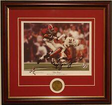ALABAMA football 1993 Sugar Bowl framed print & coin signed by George Teague