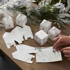 More details for fill your own snowflake advent boxes christmas advent calendar kit countdown