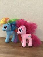 "My Little Pony Bundle Pinkie Pie & Rainbow Dash 7"" Plush MLP Great Fun Gift"