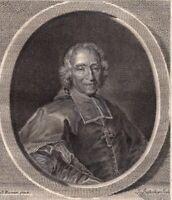Portrait XVIIIe Jean Soanen Prédicateur Oratorien Evêque Senez Concile d'Embrun