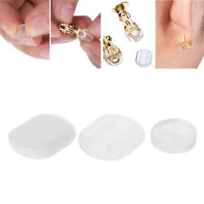 50PCS Clear Comfort Earring Pads Silicone Anti Pain Cushion for Clip On Earrings