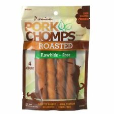LM Premium Pork Chomps Roasted Porkhide Twists 4 Pack
