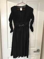 Roberto Cavalli Sexy Black Dress Fits Size 8 10