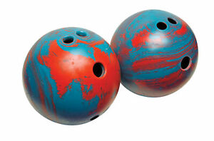 Champion Lightweight Bowling Ball, 5 Pounds, Teal and Red Swirl