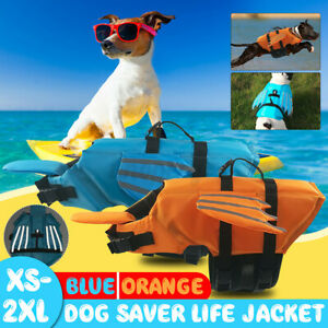 Dog Cat Poppy Pet Saver Life Swimming Float Vest Jacket Reflective