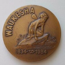 Vtg 1984 WHITE ROCK WATER WAUKESHA STATE BANK 150 year commemorative coin