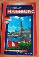 Stadtplan Citymap Hansestadt Hamburg /deutsch englisch /Verkehr Stadtteile Infos