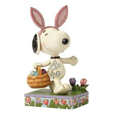 Jim Shore PEANUTS Figurine Snoopy With Ears Happy Easter  Ornament 4049398