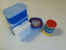 New listing Lot of 18 Plastic Food Storage with Lids, Condiment & Snack Containers, Mini & L