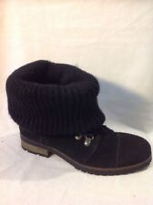 French Connection Black Ankle Suede Boots Size 39