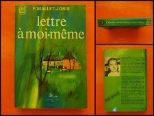 Lettre à moi-même. Françoise Mallet-Joris. Roman J'Ai Lu N° 370