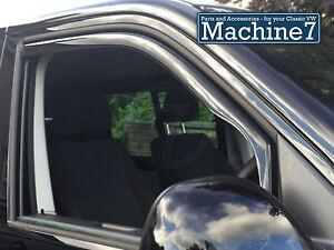 VW T6 Door Wind Deflectors, Smoked, Fit Inside Window Channel 2015-
