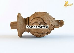 Newel Post Finial Wood Perfect Carved Oak Cap
