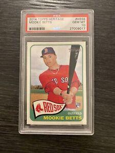 2014 Topps Heritage MOOKIE BETTS Dodgers Rookie PSA 10 Gem Mint