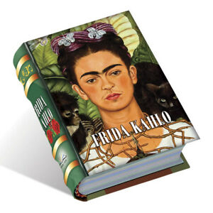 Frida Kahlo miniature book in spanish easy to read lujo pasta dura 440 paginas