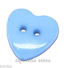 20 Botones corazon azul - blue heart