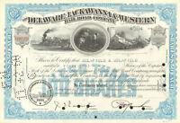 DELAWARE LACKAWANNA WESTERN RAILROAD stock certificate