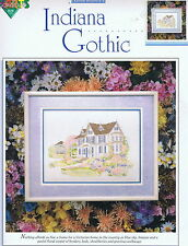 Victorian House - Indiana Gothic Cross Stitch Chart Pattern #00705