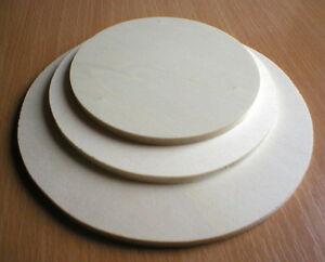 Holzscheiben rund Sperrholz Furnierplatte, 5 mm stark, diverse Größen z. Auswahl