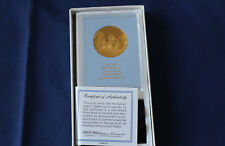 1989 Franklin Mint Presidential Eyewitness Gold on Sterling Silver Medal E2653R