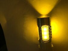High Power Bright YELLOW LED bulbs with Projector Lense, USA shipped NEW 3157