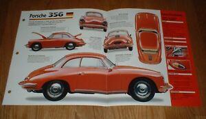 1961 PORSCHE 356 B 1600S ORIGINAL IMP BROCHURE SPECS INFO 1600 47 65 55 56 57 58