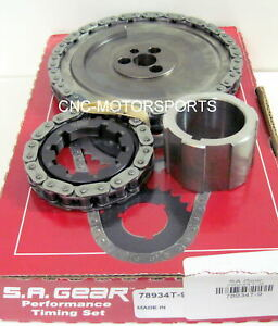 GM LS2 LQ9 6.0L 2005, LS6 5.7L 5.3L 2004-2007 SA Gear Single Billet Timing Chain