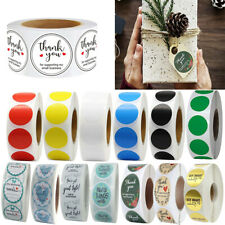 500pcs/roll DIY Handmade Thank You Stickers Wedding Birthday Package Seal Labels