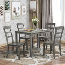 5Pcs Kitchen Dining Set Table with Chairs Modern For Dining Room US Stock