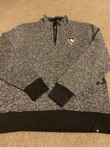 47 Brand Pittsburgh Penguins 1/4 Zip Pullover NWT XL NHL Crosby
