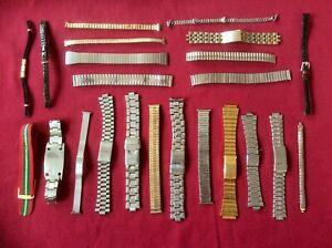 Lot Vintage Gents Mens Ladies Watch Wristwatch Bracelet,Expandable,Metal,Leather