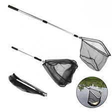 Telescopic Folding Fish Landing Fishing Net Extending Pole Trout Carp Coarse Sea