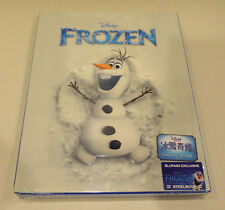 NEW, SEALED Frozen Olaf Blufans full slip steelbook 3D blu-ray China exclusive
