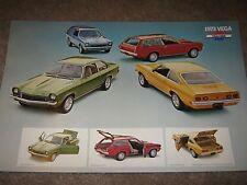 1973 Chevrolet Vega Dealer Sales-Showroom Brochure, Poster GT, Kammback