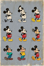 DISNEY MICKEY MOUSE EVOLUTION RETRO 91.5 X 61CM POSTER NEW 100% OFFICIAL