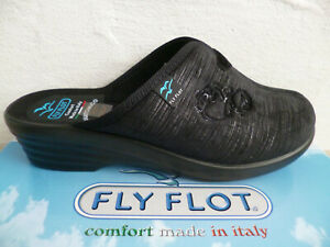 Fly Flot Ladies Slippers Mules Slippers Black