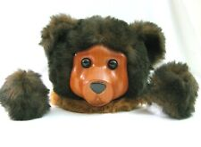 Vtg Carved Wooden Bear Head Face Plush with Paws for Craft Supply Robert Raikes