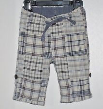 babyGAP Size 0-3 Months Gray Pull-On Roll-Up Plaid Pants