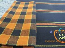 4 Fall Placemats & Napkins-(2) Embroidered Pumpkins & (2) Ribbed-#R18A