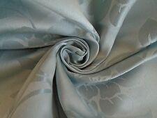 35 Metres Powder Blue Floral Sateen Brocade Curtain & Interior Fabric