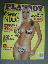 Playboy Magazine March 2000 (Caprice / cover)