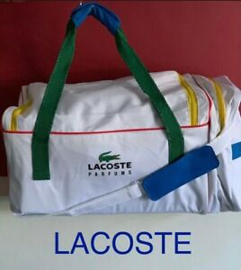 LACOSTE SPORT BAG DUFFLE GYM BAG LWEEKEND TRAVEL BAG White Large BRAND NEW 💙