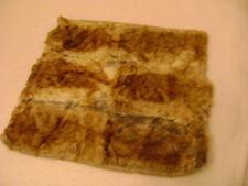 Natural Brown Pieced Rabbit Fur Pillow 50x48 x 2