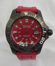 Victorinox 249056 Dive Master 500 Large Red Dial Red Rubber Mens Watch
